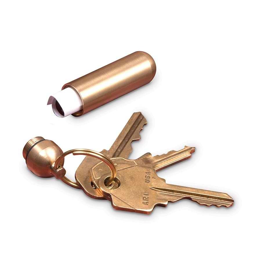 Everyday Carry Brass Keyring (Assorted Designs) image