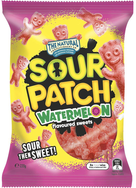 The Natural Confectionery Co Sour Patch Watermelon 220g