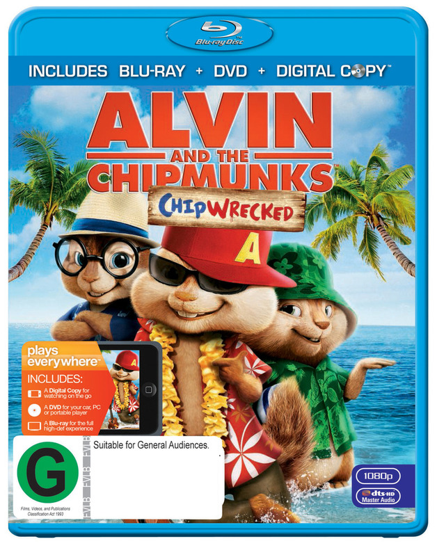 alvin and the chipmunks chipwrecked dvd blu ray dc in stock