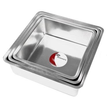 Deep Square Cake Pan Set