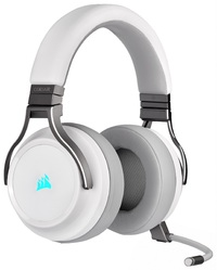Corsair Virtuoso RGB Wireless Gaming Headset (White) for PC image