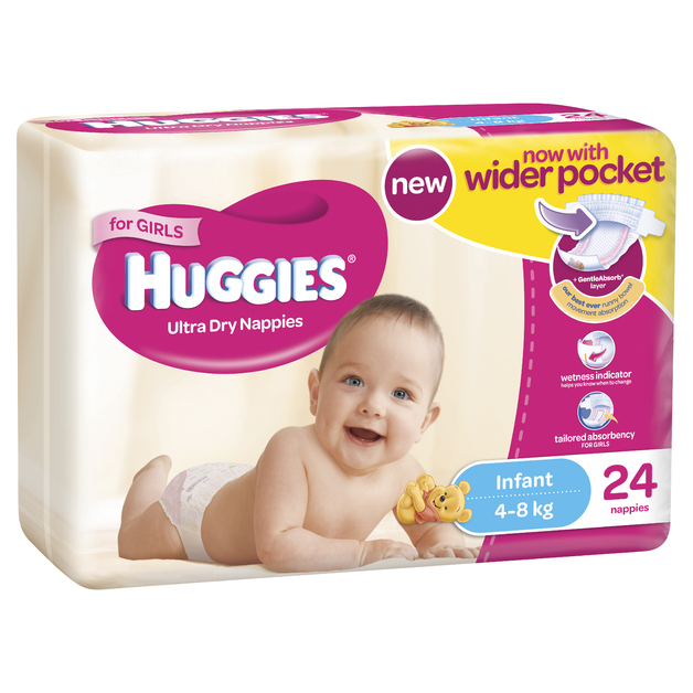 3???6?kg 24?Nappies Size 2? HUGGIES Baby