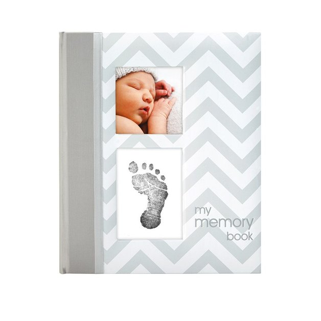 Pearhead Chevron Baby Book (Grey)