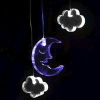 Mobile Night Light with Time - Moon & Clouds image