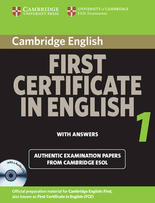 Cambridge First Certificate in English 1 for Updated Exam Self-study Pack: Official Examination Papers from University of Cambridge ESOL Examinations: Level 1 by Cambridge ESOL image