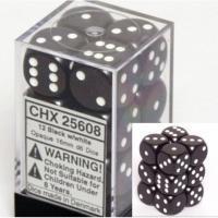 Chessex Opaque 16mm D6 Dice Block: Black/White