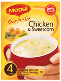 MAGGI Soup for a Cup Chicken & Sweetcorn 50g 4pk