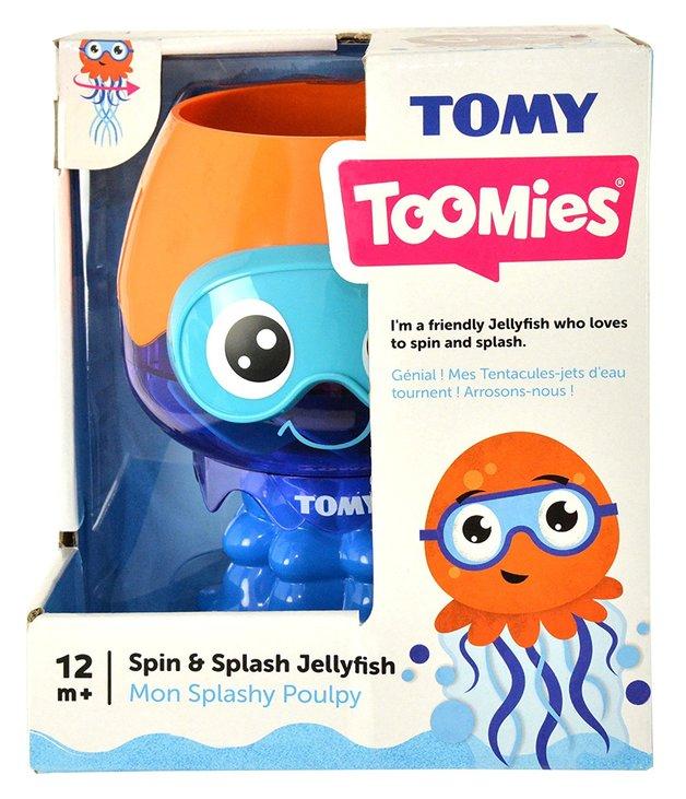 Tomy Toomies: Spin & Splash Jellyfish - Bath Toy