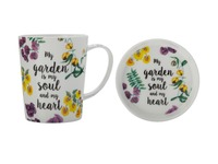 Maxwell & Williams Royal Botanic Garden Green Thumb Mug & Coaster - Soul (400ML)