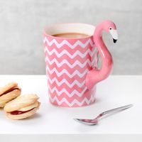Ziggy The Chevron Tropical Flamingo - Coffee Mug