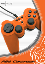 Powerwave Controller Solid Orange for PlayStation 2