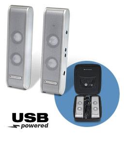 Altec Lansing XT1 2.0 Portable USB Speaker System (Silver)