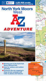 North York Moors (West) Adventure Atlas by Geographers A-Z Map Company