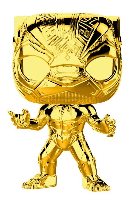Marvel Studios - Black Panther Gold Chrome Pop! Vinyl Figure image