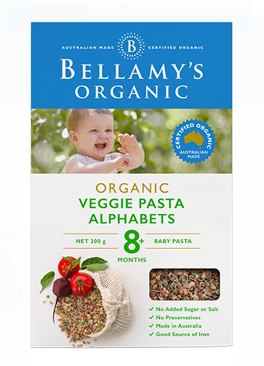 Bellamy's Organic: Vegie Alphabet (200gm)