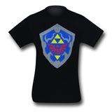 Zelda Simple Shield Black T-Shirt (X-Large)