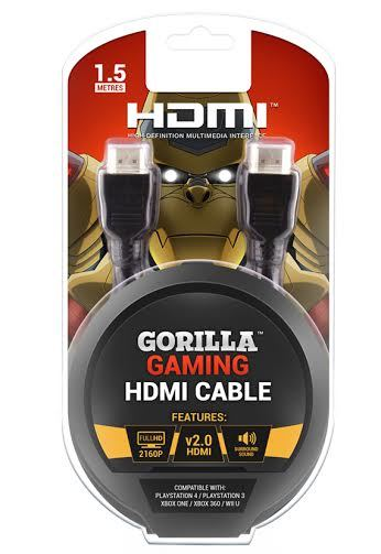 Gorilla Gaming 4K HDMI Cable (v2.0 High Speed) for