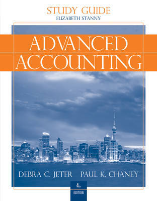 Advanced Accounting: Study Guide with Working Papers in Excel by Debra C. Jeter