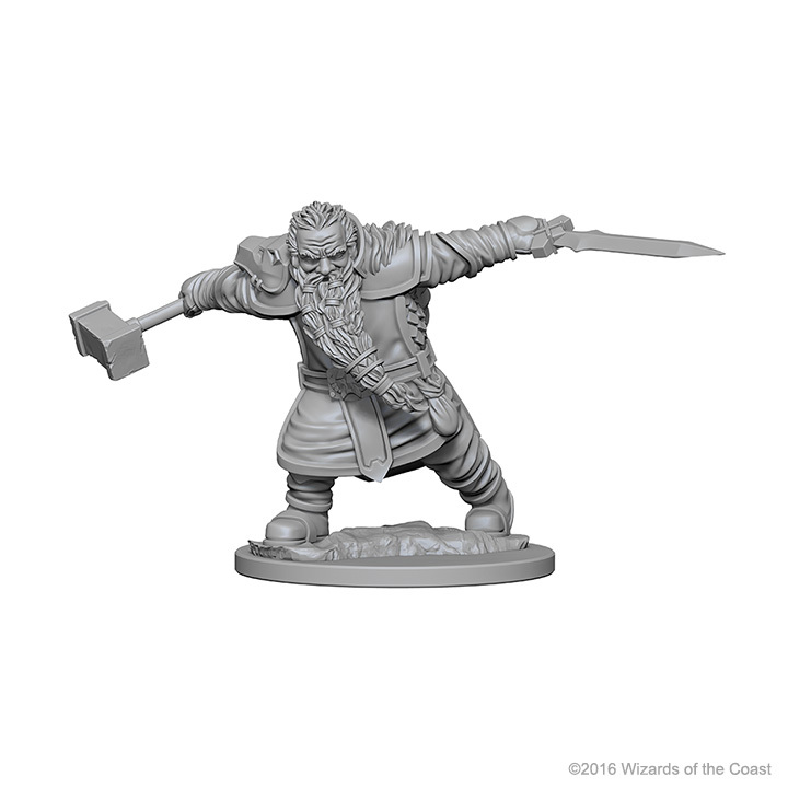 D&D Nolzur's Marvelous: Unpainted Minis - Dwarf Male Fighter image