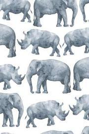 Elephant & Rhino by Molly Elodie Rose