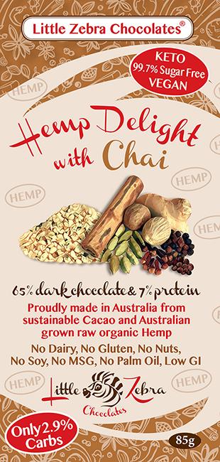 Little Zebra Chocolates: Hemp Delight with Chai