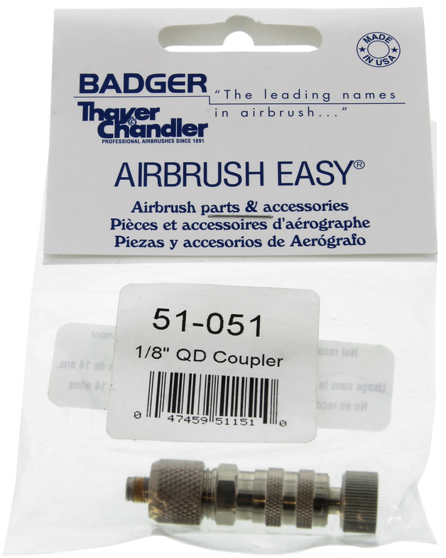 Badger: 1/8 Airbrush Hose QD Coupler & Male QD