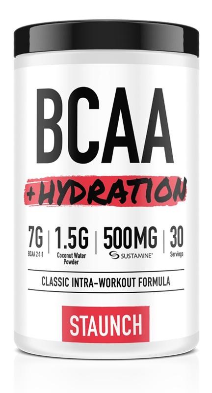 Staunch Nutrition BCAA + Hydration - White Grape (30 Serve)