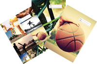 Spencil: Sports Collage 1B5 Book Cover - Assorted (3 Pack)
