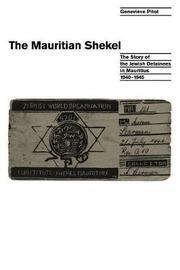 The Mauritian Shekel by Genevieve Pitot