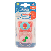 Dr Brown's PreVent Contoured Pacifier Stage 3 Pink - 12+ (2 Pack)