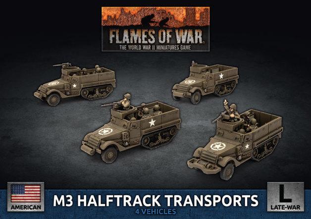 Flames of War: M3 Halftrack - Transport Platoon (Plastic)
