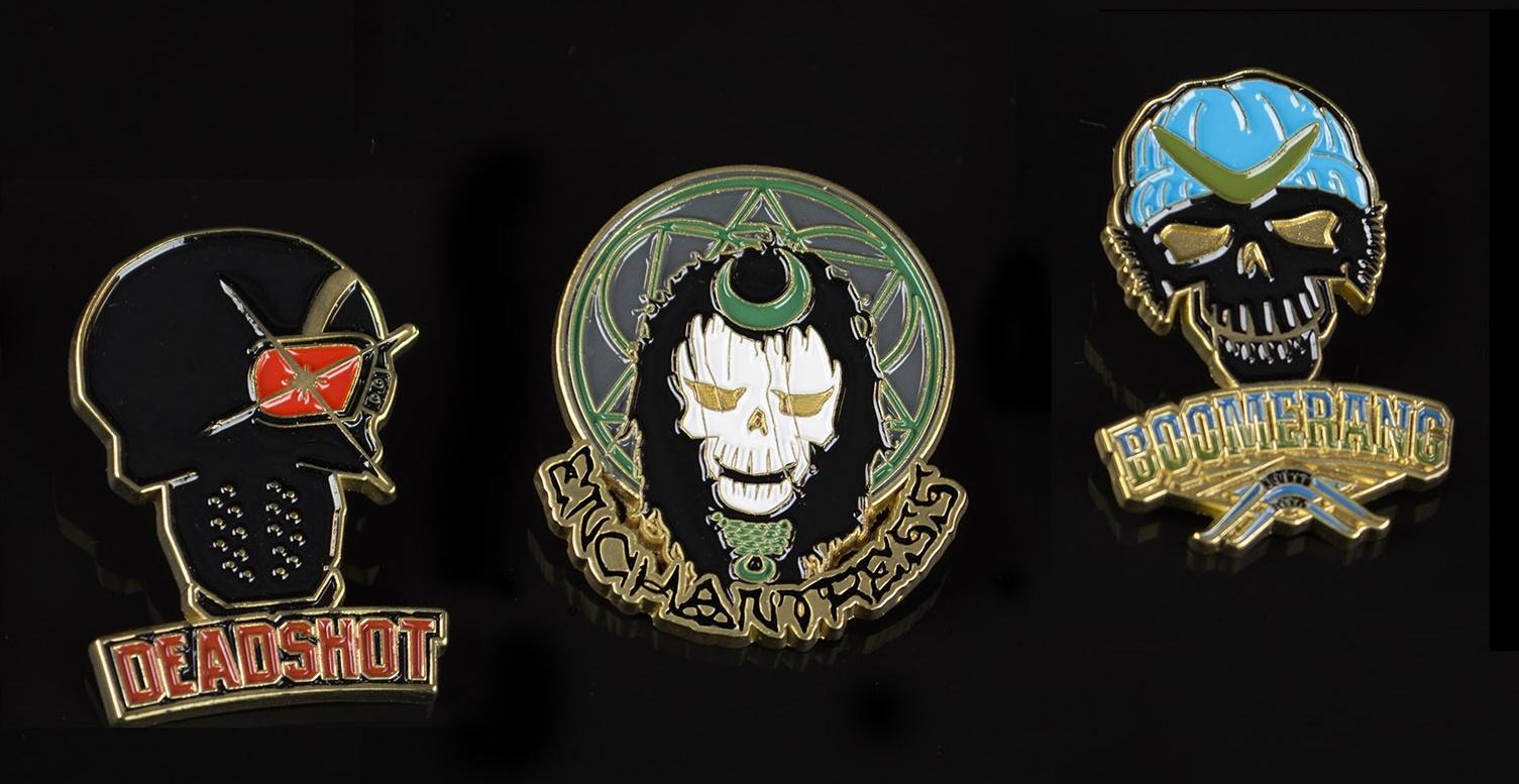 Suicide Squad Lapel Pins — Set 1 image