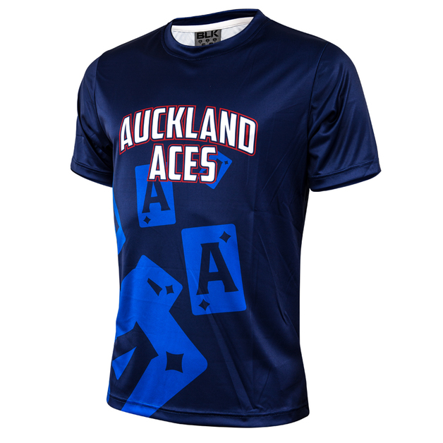 Auckland Aces Youth Performance Tee (Size 16)