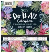 Do It All: Succulent 17 Month 2019 Wall Calendar image