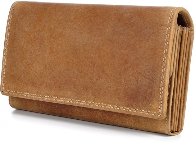 Urban Forest: Charlene Leather Wallet - Cognac