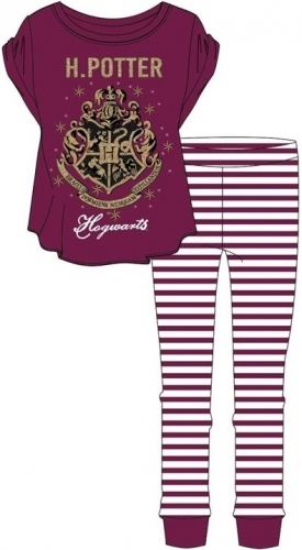 Harry Potter: Hogwarts Womens Pyjama Set - Red/16-18