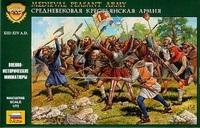 Zvezda: 1/72 Medieval Peasant Army - Model Kit