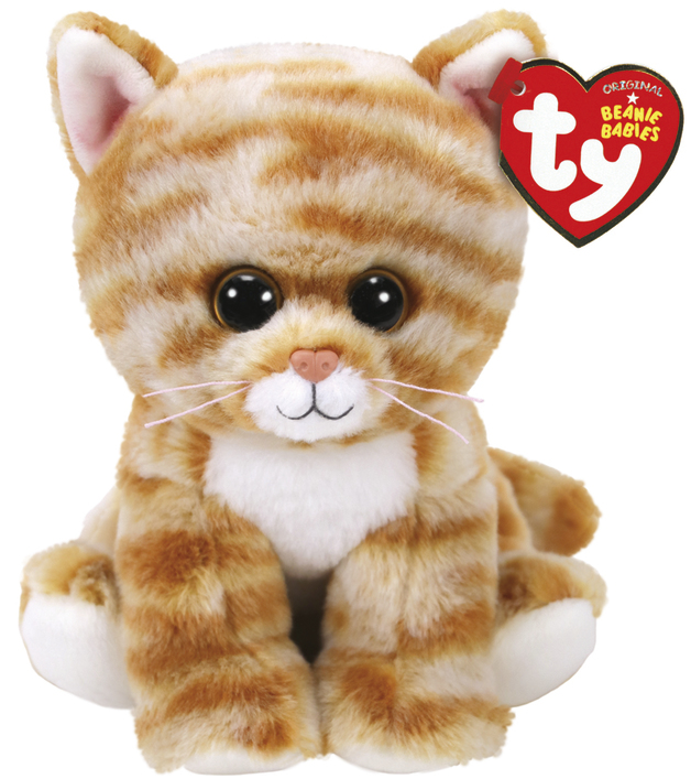 Ty Beanie Babies: Cleo Gold Cat - Small Plush