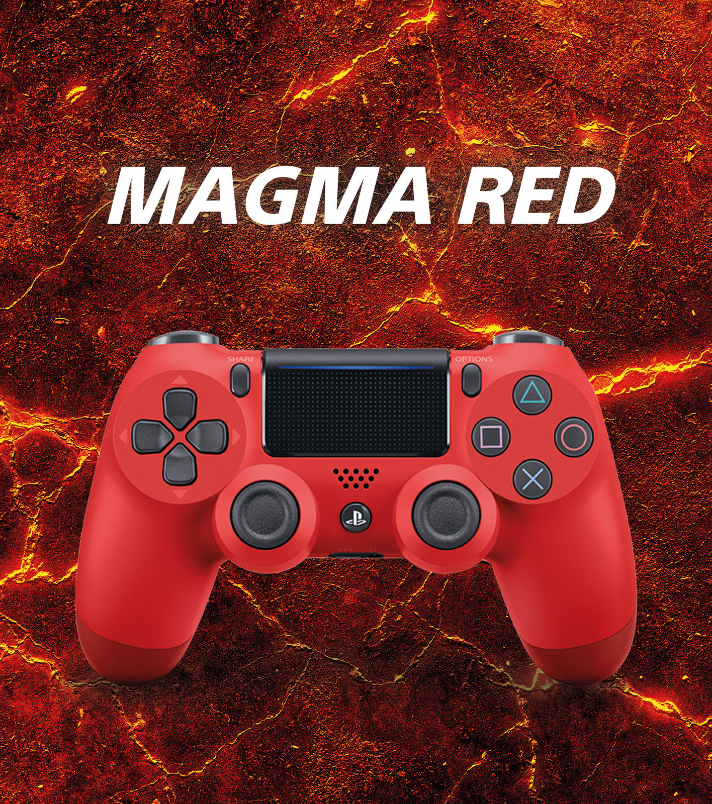 PlayStation 4 DualShock 4 v2 Wireless Controller - Magma Red for PS4 image