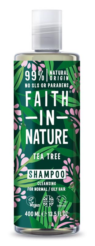 Faith In Nature: Tea Tree Shampoo for Normal/Oily Hair (400ml)
