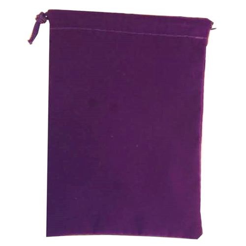 Suede Cloth Dice Bag (Large, Purple) image