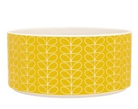 Orla Kiely Ceramic Salad Bowl - Yellow