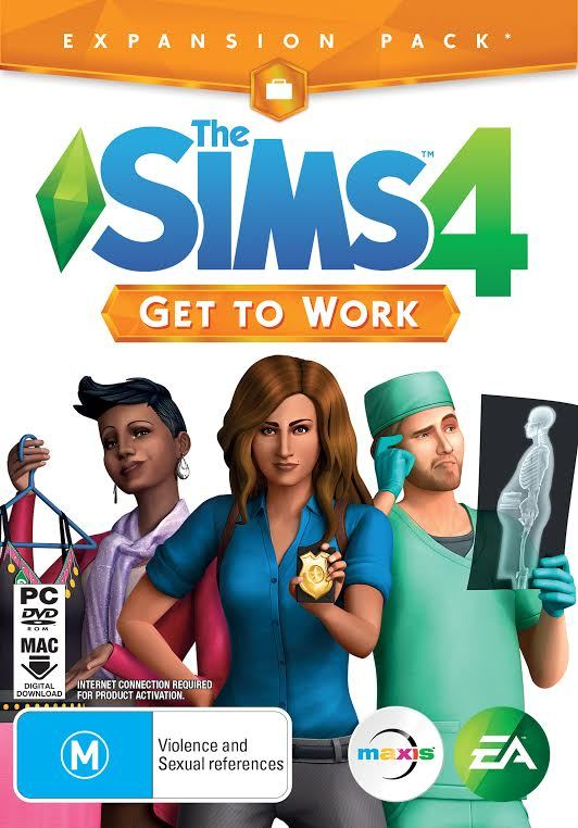 The Sims 4: Get To Work (code in box) for PC