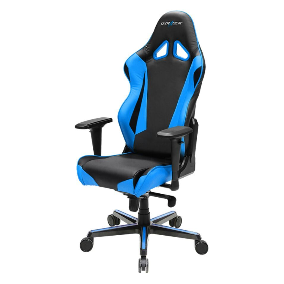 DXRacer Racing Series RV001 Gaming Chair (Black and Blue) for  image