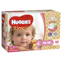 Huggies Ultimate Nappies: Jumbo Pack - Walker Girl 12-17kg (52)