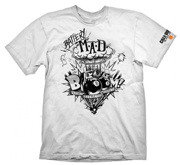 """Call of Duty: Black Ops 4 T-Shirt """"Battery Mad"""", S"""