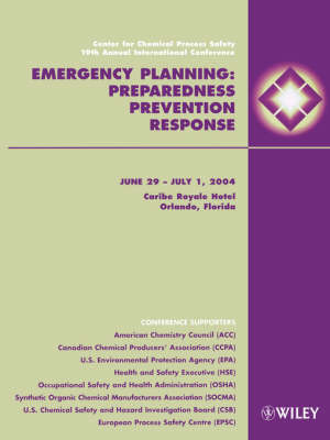Emergency Planning by Center for Chemical Process Safety (CCPS) image