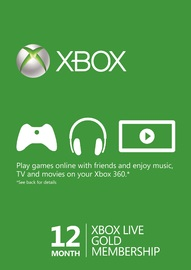 Xbox LIVE 12 Month Gold Membership Card for  image