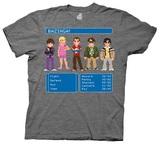The Big Bang Theory 8 Bit Adventure Men's T-Shirt (Medium)