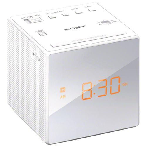 Sony Radio Single Alarm Clock - White image